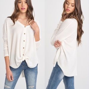 BETTY Front tie Top - IVORY